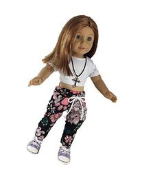 Little Hip-hop Chick Outfit with Sneakers for 18 Inch Dolls