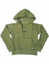 Jade - Little Girls' Hooded Ribbed Sweatshirt, Olive 7817-4