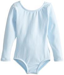 Clementine Little Girls' Long Sleeve Leotard, Light Blue, 3-