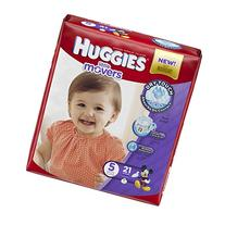 HUGGIES LITTLE MOVERS Diapers, Size 5 , 21 Ct., JUMBO PACK