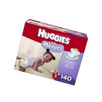 Huggies Little Movers Diapers Economy Plus, Size 5, 140