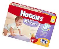 Huggies Little Movers Step 4 Giant Pack, 120 Count
