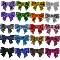 QingHan 20pcs Baby Sequin Boutique Hair Bows Alligator Clips