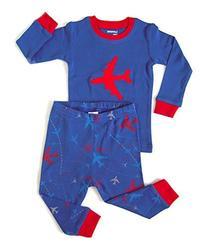 Leveret Airplane 2 Piece Pajama 4 Years