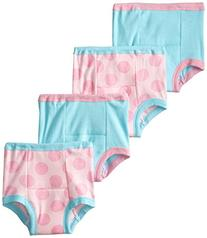 Gerber Little Girls' 4 Pack Polka Dots Training Pants, Pink