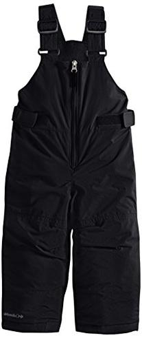 Columbia Little Girls' Snowslope II Bib, Black, XX-Small