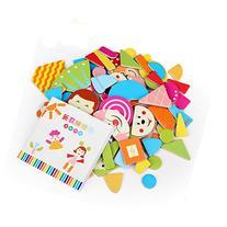 Little star 1Pack 90pcs x Fridge Magnet Mixed Cartoon Wooden