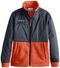 Columbia Little Boys' Steens Mt Overlay Jacket, Bright Red,