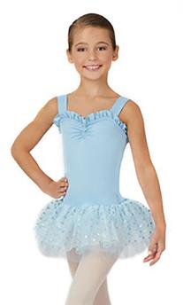 Capezio Little Girls' Sweetheart Tutu Dress, Pink Flower,