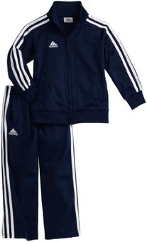 adidas Toddler Boys' Iconic Tricot Jacket and Pant Set, Navy