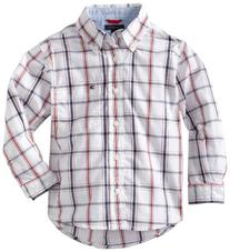 Tommy Hilfiger Toddler Boys' Samuel Plaid Shirt, Classic