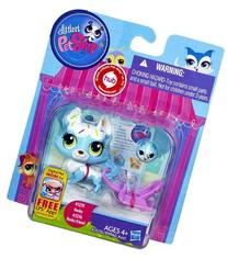 Littlest Pet Shop # 3235 Electric Blue Husky & # 3236 Husky