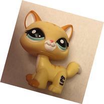 #2034 Littlest Pet Shop Yellow & Orange walking Cat Kitty