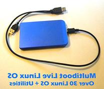 Live Multiboot 60GB USB Hard Drive With Over 30 Linux OS,