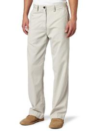 Haggar Men's LK Life Khaki Relaxed Straight Fit Flat Front