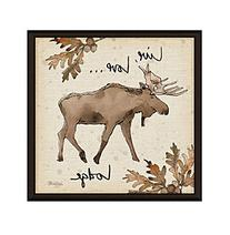 Greenleaf Art Lodge Live Moose Framed Canvas Art