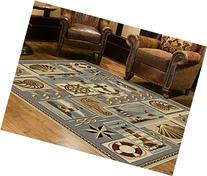 Universal Rugs Lodge Novelty 5 ft. 3 in. x 7 ft. 3 in. Area