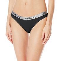 Calvin Klein Women's Logo Cotton Bikini Panty, Black, Small