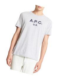 Men's A.p.c. Logo Graphic T-Shirt, Size XX-Large - Grey