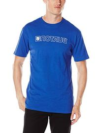 BURTON Men's Logo Horizontal Short Sleeve Tee, Web, Large