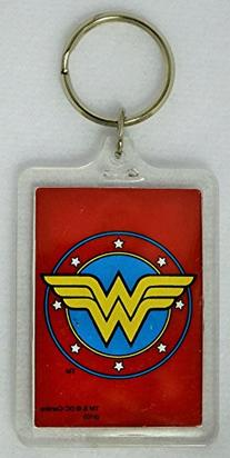 Wonder Woman Logo Mirror Lucite Key Chain