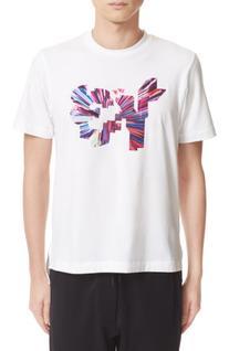 Men's Y-3 Color Logo T-Shirt, Size X-Large - White