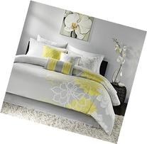 Madison Park Lola 7 Piece Comforter Set Size: Queen, Grey/Yellow