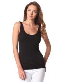 Splendid Women's Long Fitted Layering Tank Top, Black,X'
