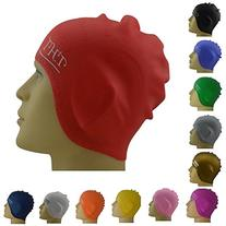 #1 Long Hair Silicone Swim Cap - Perfect To Keep Hair Dry -
