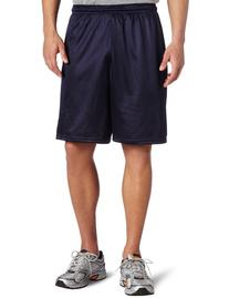 Soffe Men's Long Polyester Mini-Mesh Short Navy Large