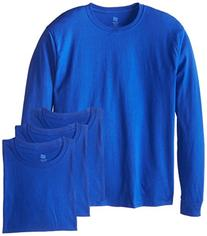 Hanes Men's 4 Pack Long Sleeve Comfortsoft T-Shirt, Deep
