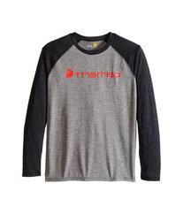 Carhartt Kids - Long Sleeve Force Raglan Tee   Boy's T Shirt
