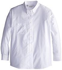 Van Heusen Men's Long Sleeve Oxford Dress Shirt, White,