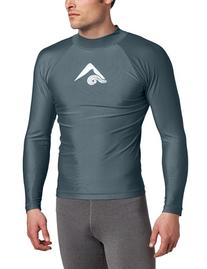 Kanu Surf Men's Long Sleeve Platinum UPF 50+ Rashguard Swim