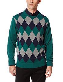 IZOD Men's Long-Sleeve Road Trip Diamond Crew Sweater, June