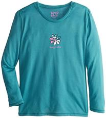 Life is good Girl's Long Sleeve Sleep Tee , XX-Small