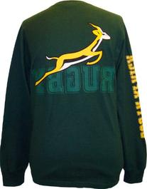 Long-Sleeve South Africa Rugby T-Shirt - XXL