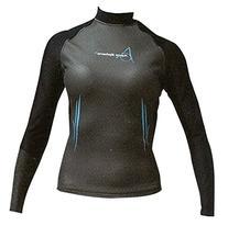 Aqua Sphere Women's Long Sleeve Swim Skin, Lack/Aqua, Medium