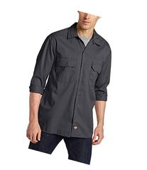 Dickies Adult Long-Sleeve Work Shirt - Charcoal