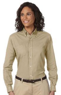 Van Heusen Women Long-Sleeve Wrinkle-Resistant Oxford 59800