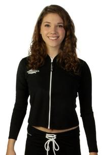 Women's Long Sleeve Zip Swim Jacket - Zipper Front - UV Sun