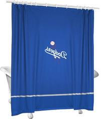 MLB Los Angeles Dodgers Baseball Accent Shower Curtain