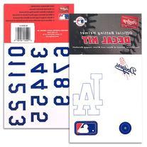 Los Angeles Dodgers MLB Batting Helmet Decal Kit (Includes