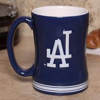 L.A. Dodgers Navy Blue 15oz. Ceramic Relief Mug