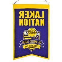 Los Angeles Lakers Official Wool Team Nation Fan Banner by