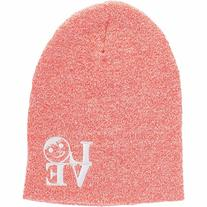 neff Men's Love Beanie, Red Heather, One Size
