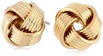 Signature 1928 Jewelry Gold-Tone Love Knot Stud Earrings