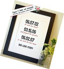 Our Love Story Dates He stole her heart Engagement gift