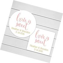 Love Is Sweet Wedding Favor Stickers or Bridal Shower