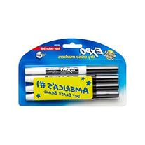 EXPO 86661 Low-Odor Dry Erase Markers, Fine Point, Black, 4-Count